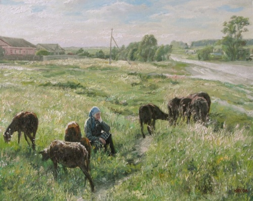 At the edge, 2008. Painting by Russian artist Yuri Pantsyrev