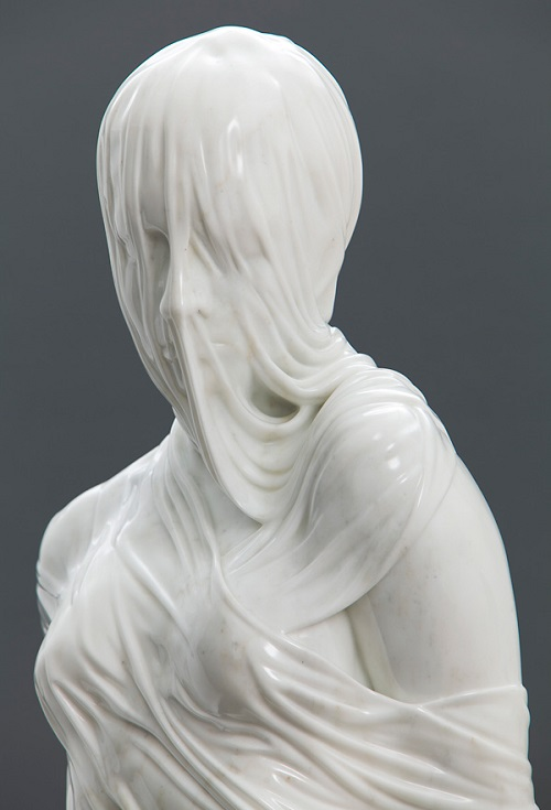 Ballerina. 2011. Carrara Marble closeup. Sculpture by Kevin Francis Gray