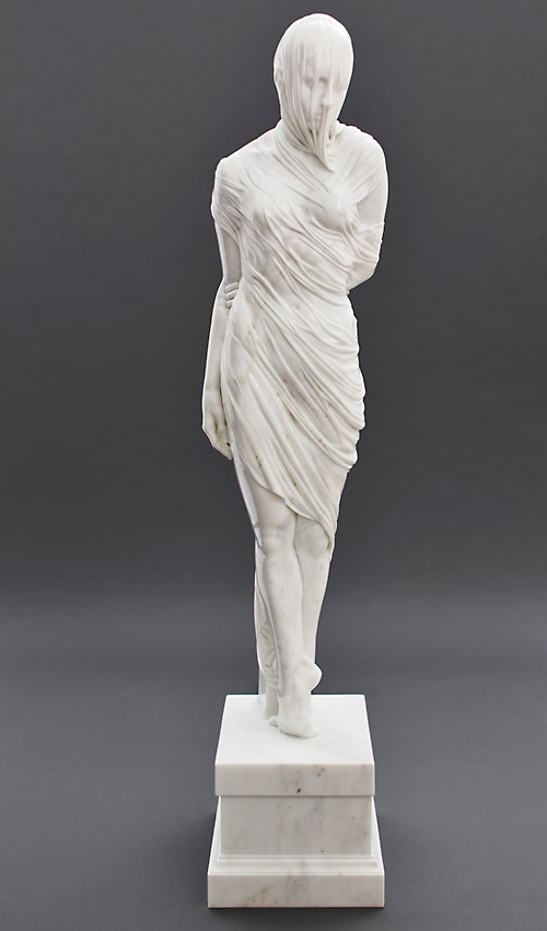 Ballerina. 2011. Carrara Marble. Sculpture by Kevin Francis Gray