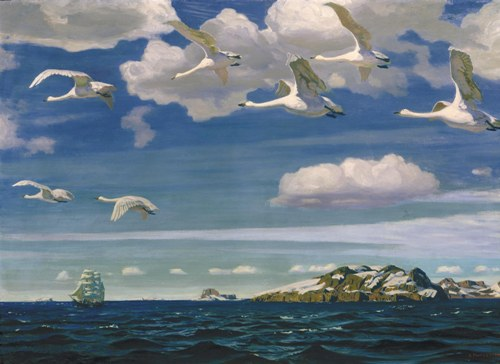Blue Expanse. Russian painter Arkady Rylov