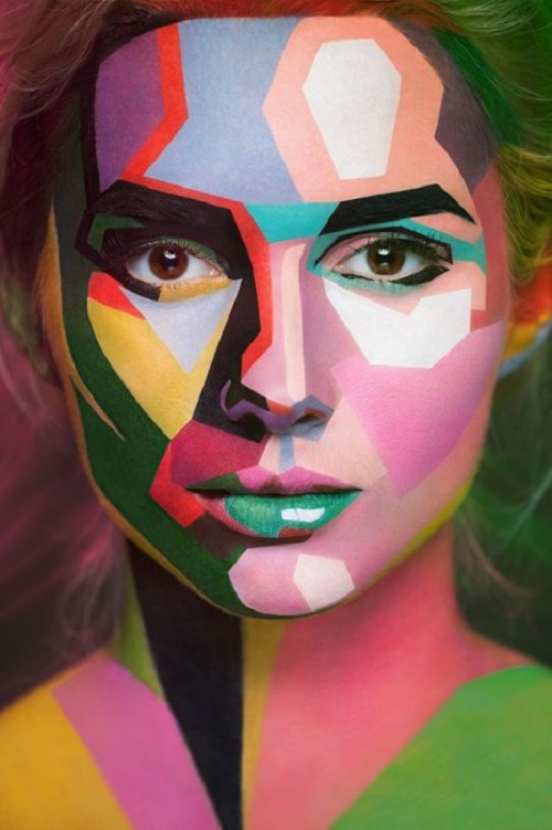 Body art project '2D or not 2D' by Russian master of body art Valeria Kutsan and photographer Alexander Khokhlov