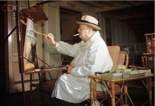 British artist Sir Winston Churchill