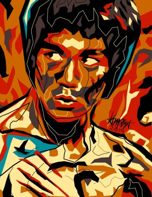 Bruce Lee. Dri Ilustre Illustrations