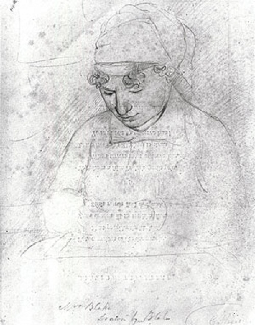 Catherine Blake, c. 1805, by William Blake