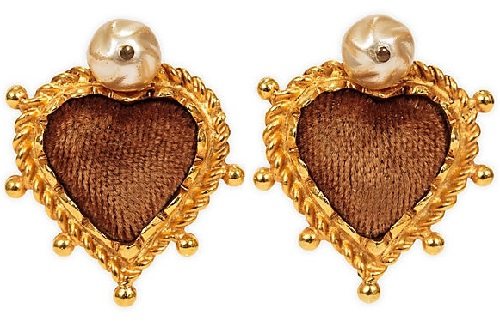 Christian Lacroix Sacred Heart earrings