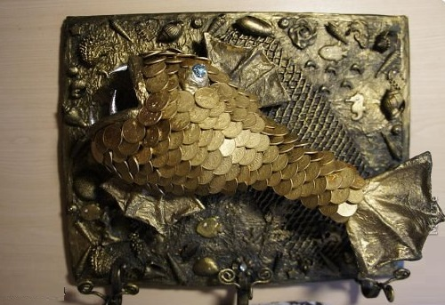 Coin fish by Russian applied art master Mamdina