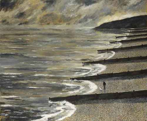 Early One Morning. Naive Painting by contemporary British artist Gary Bunt