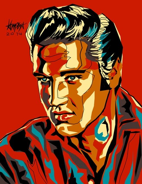 Elvis Presley. Pop Culture digital Illustration by Filipino artist Dri Ilustre