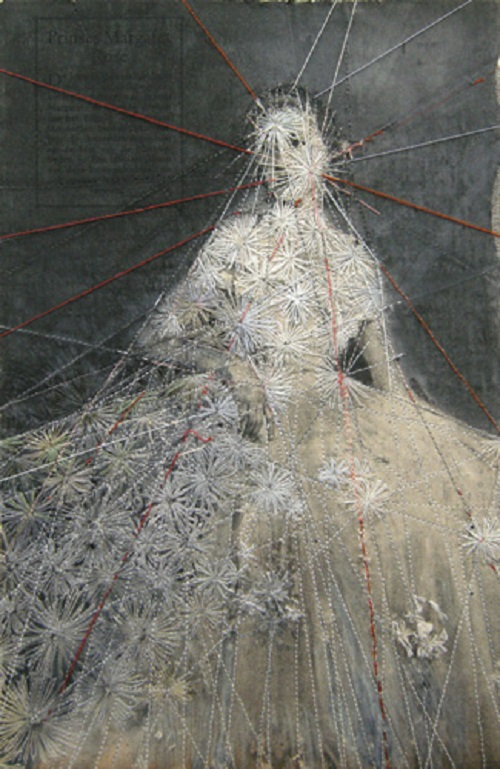 Embroidery on paper by Hinke Schreuders