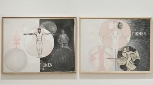 Exhibition of abstract paintings by Swedish abstract painter Hilma af Klint