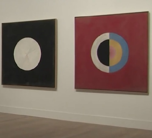 Exhibition of abstract paintings by Swedish artist Hilma af Klint