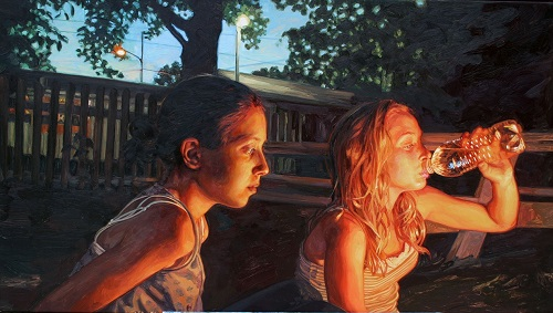 Fire Watch. 2011. oil on canvas. Hyperrealistic painting by Laura Sanders