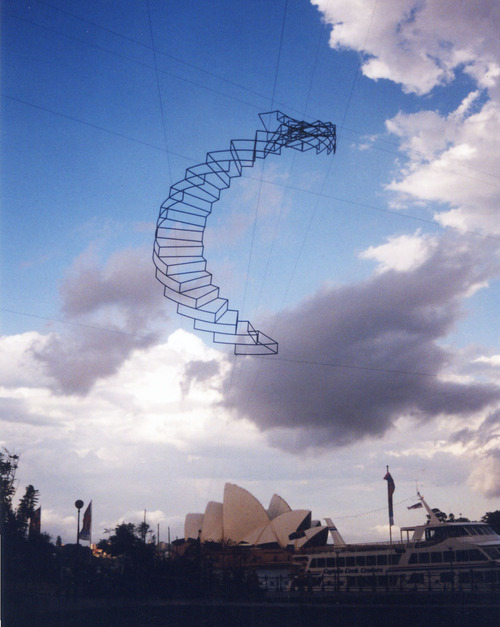 Floating sculpture by Neil Dawson