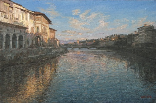 Florence Evening 2009. Painting by Yuri Pantsyrev