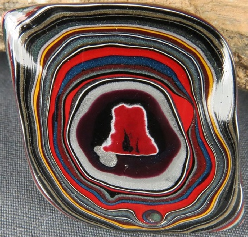 Fordite Psychedelic patterns
