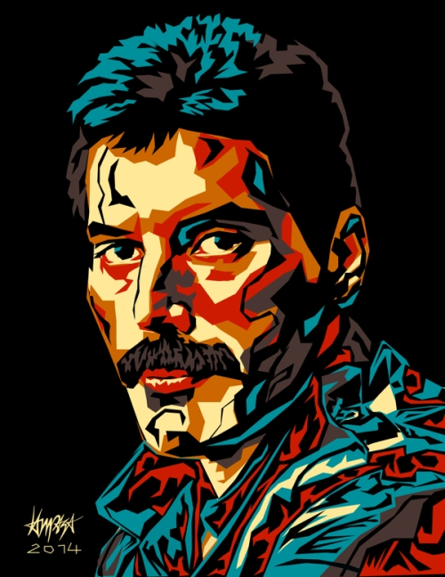 Freddie Mercury. Pop Culture digital Illustration by Filipino artist Dri Ilustre