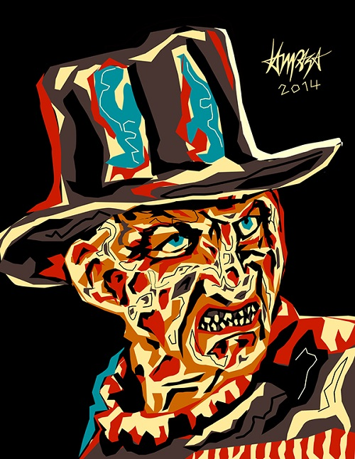 Freddy Krueger. Pop Culture digital Illustration by Filipino artist Dri Ilustre