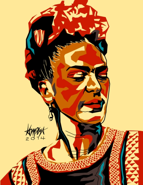 Frida Kahlo de Rivera. Pop Culture digital Illustration by Filipino artist Dri Ilustre