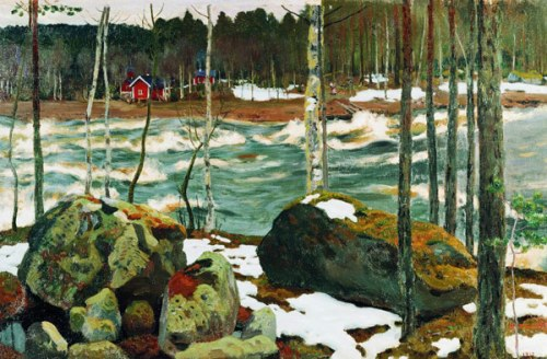 Fulminate river. Russian painter Arkady Rylov