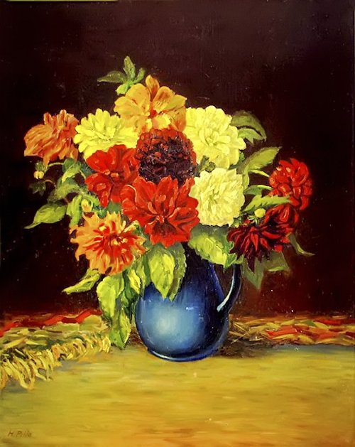 Horst Pille Flower paintings