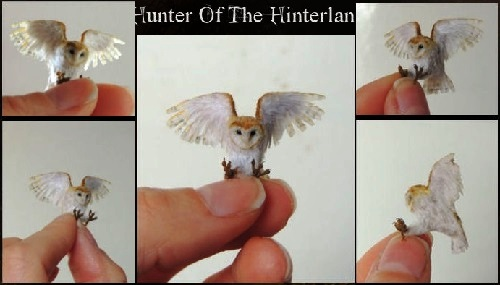 Hunter of the Hinterland. Miniature Wildlife sculpture by Anya Stone