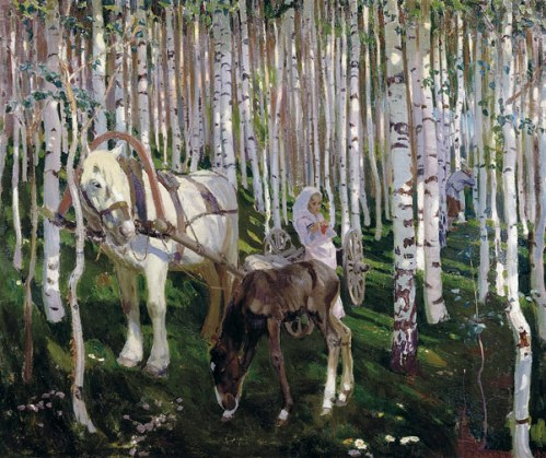 In a wood, 1905. Soviet/Russian artist Arkady Rylov