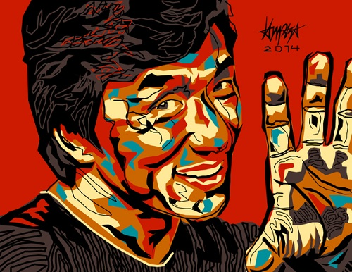 Jackie Chan. Pop Culture digital Illustration by Filipino artist Dri Ilustre