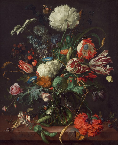 Jan Davidsz de Heem, Dutch, 1606–1684, Vase of Flowers, c. 1660, oil on canvas