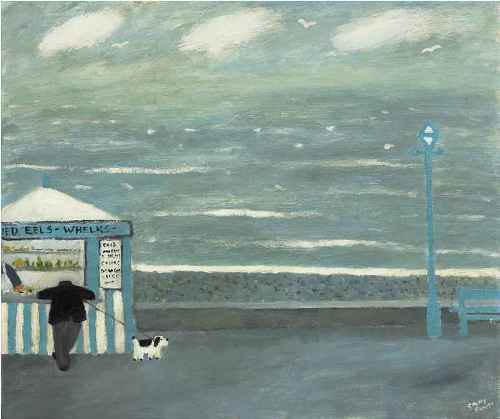 Jellied Eels. Naive Painting by contemporary British artist Gary Bunt
