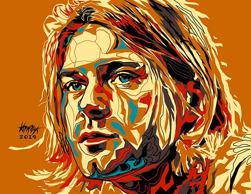 Kurt Cobain. Dri Ilustre Illustrations