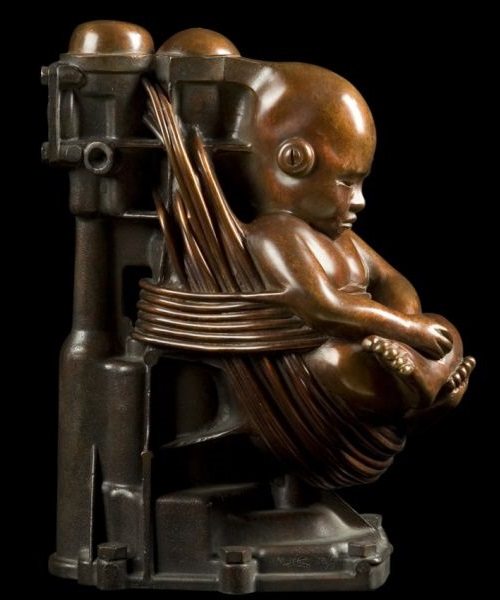Little Buddha. Steampunk Sculpture by Pierre Matter
