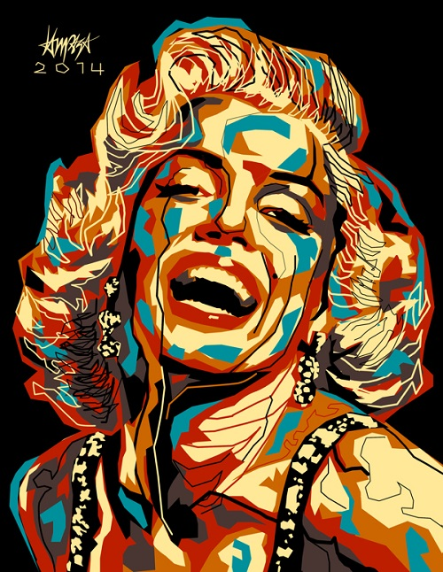 Marilyn Monroe. Dri Ilustre Illustrations