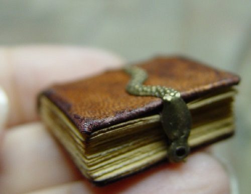 Medieval Miniature books by American artist of applied art Ericka VanHorn