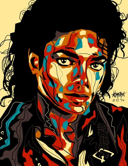 Michael Jackson. Pop Culture digital Illustration by Filipino artist Dri Ilustre
