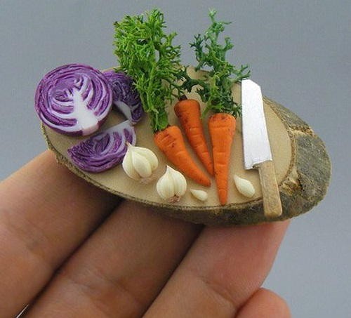 Shay Aaron Miniature food sculpture