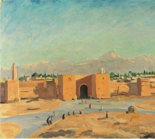 Morocco. Painting by Sir Winston Churchill