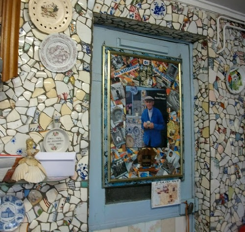 Mosaic House from broken crockery, shells, iridescent glass, porcelain by Robert Vasseur
