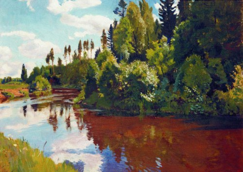 Mouth of the river Orlinki. 1928. Soviet/Russian artist Arkady Rylov