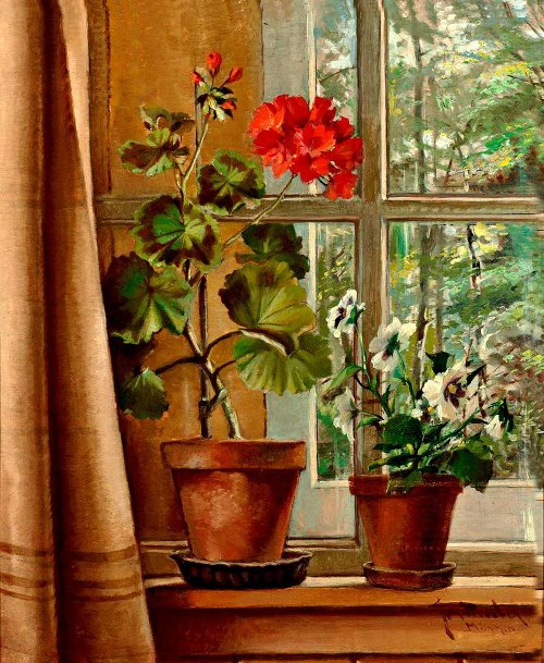 Munich artist of the first half of the 20th century. Flower paintings