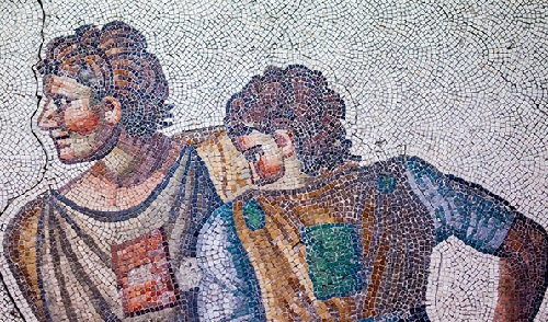Museum of unique Byzantine mosaics in Istanbul, Turkey