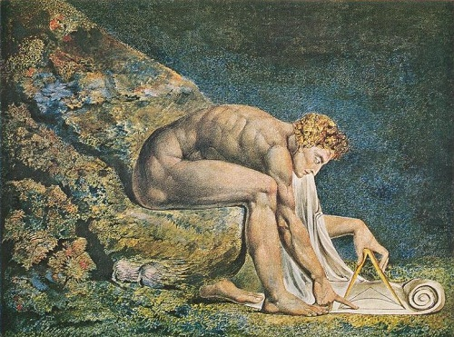 William Blakes mystic art. Newton (1795)