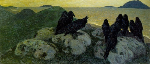 Russian painter Nicholas Roerich. The Ill-Omened. 1901. Oil on canvas. Russian Museum, St. Petersburg