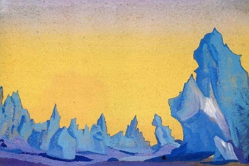 Of the Himalayan series. Russian painter Nicholas Roerich
