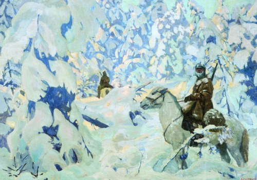 On guard. 1931. Soviet/Russian artist Arkady Rylov