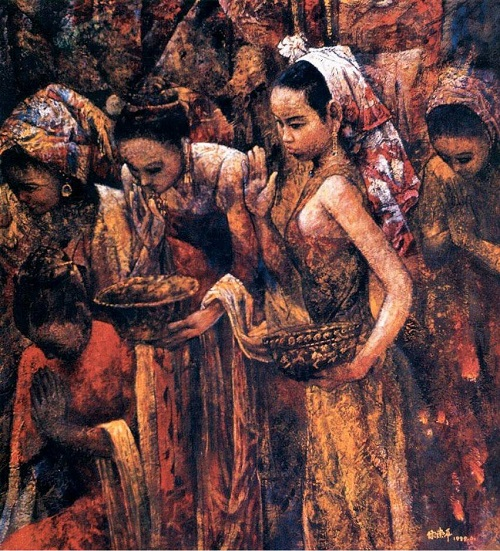 Painting by Chinese artist Chen Chong Ping