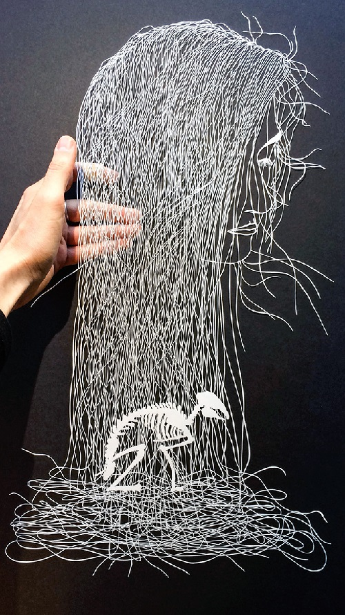 Paper cut art by Maude White