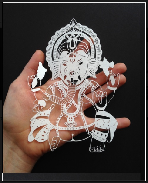 Paper cut by American self-taught artist Maude White