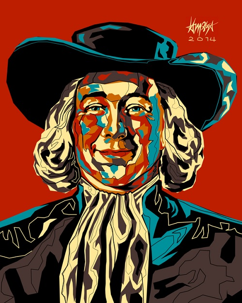Quaker Man. Pop Culture digital Illustration by Filipino artist Dri Ilustre