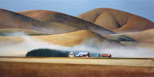 Roan Hill, 2014. Oil painting by American realist painter Michael Gregory