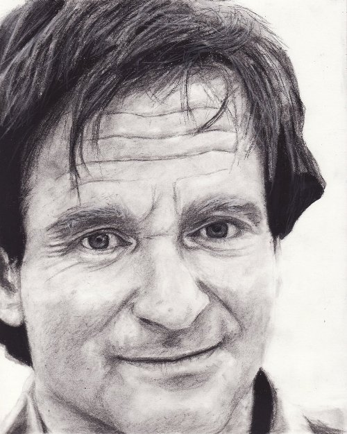 Robin Williams pencil drawings by Dark Calamity